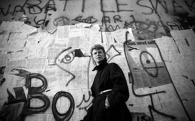 David Bowie at the Berlin Wall, 1987.