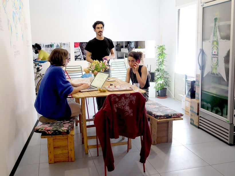 A family-owned townhouse now houses the Social Impact Hub, a business incubator.