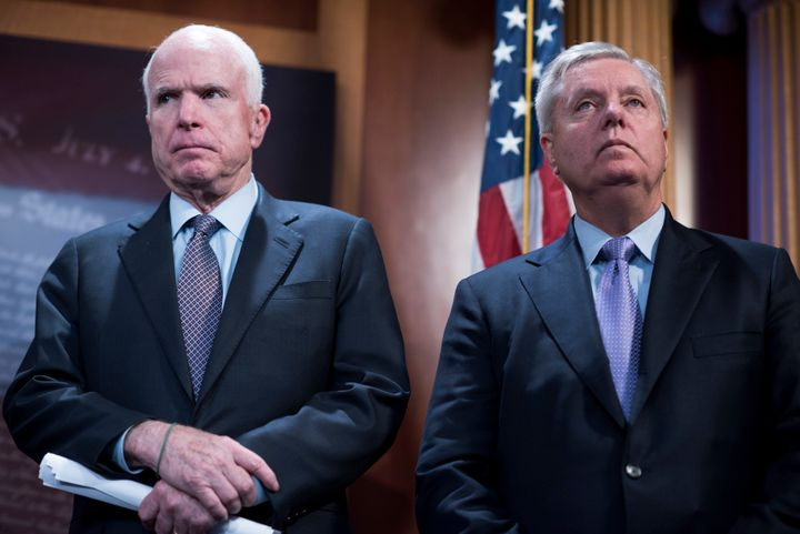 Sens. John McCain (R-Ariz.) and Lindsey Graham (R-S.C.) have been some of Trump's toughest critics when it comes to his relat