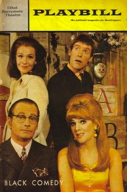 The original Broadway production of <strong><em>Black Comedy</em></strong> starred Geraldine Page, Michael Crawford, Lynn Red
