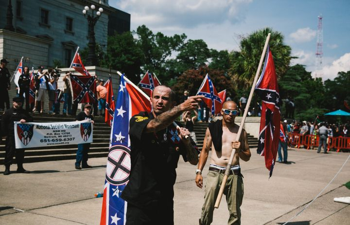 A member of the Ku Klux Klan from Kentucky and a member of the Loyal White Knights branch of the Ku Klux Klan from Pelham, No