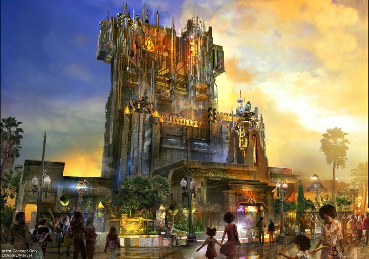 """<a href=""""https://disneyparks.disney.go.com/blog/2016/07/guardians-of-the-galaxy-mission-breakout-coming-to-disney-california-adventure-park-summer-2017/"""" target=""""_blank"""">Guardians of the Galaxy -- Mission Breakout</a>&nbsp;is a new ride in&nbsp;the&nbsp;building formerly known as Tower of Tower."""