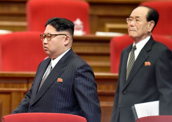 North Korean leader Kim Jong Un attending the first congress of the country's ruling Workers' Party in 36 years.