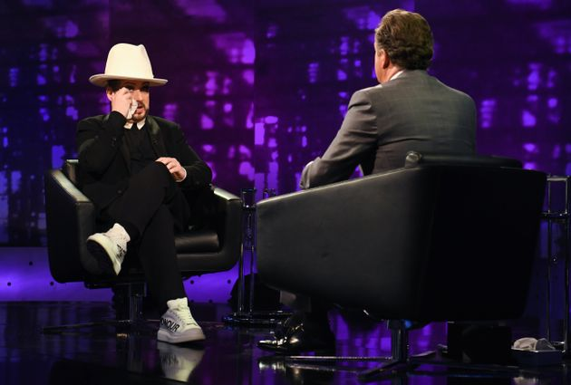 Boy George became emotional on the