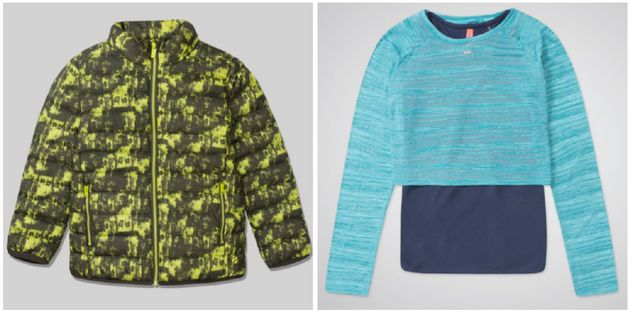 Left: Jacket, £15. Right: Layered top,