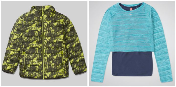 Left: Jacket, £15. Right: Layered top, £15.