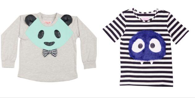 Left: Sweatshirt, £47, Right: Top,