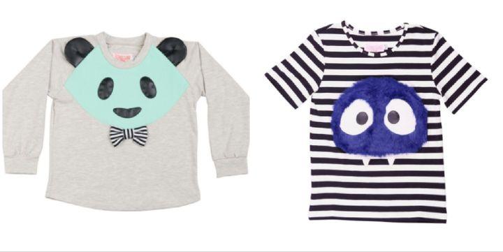 Left: Sweatshirt, £47, Right: Top, £41.