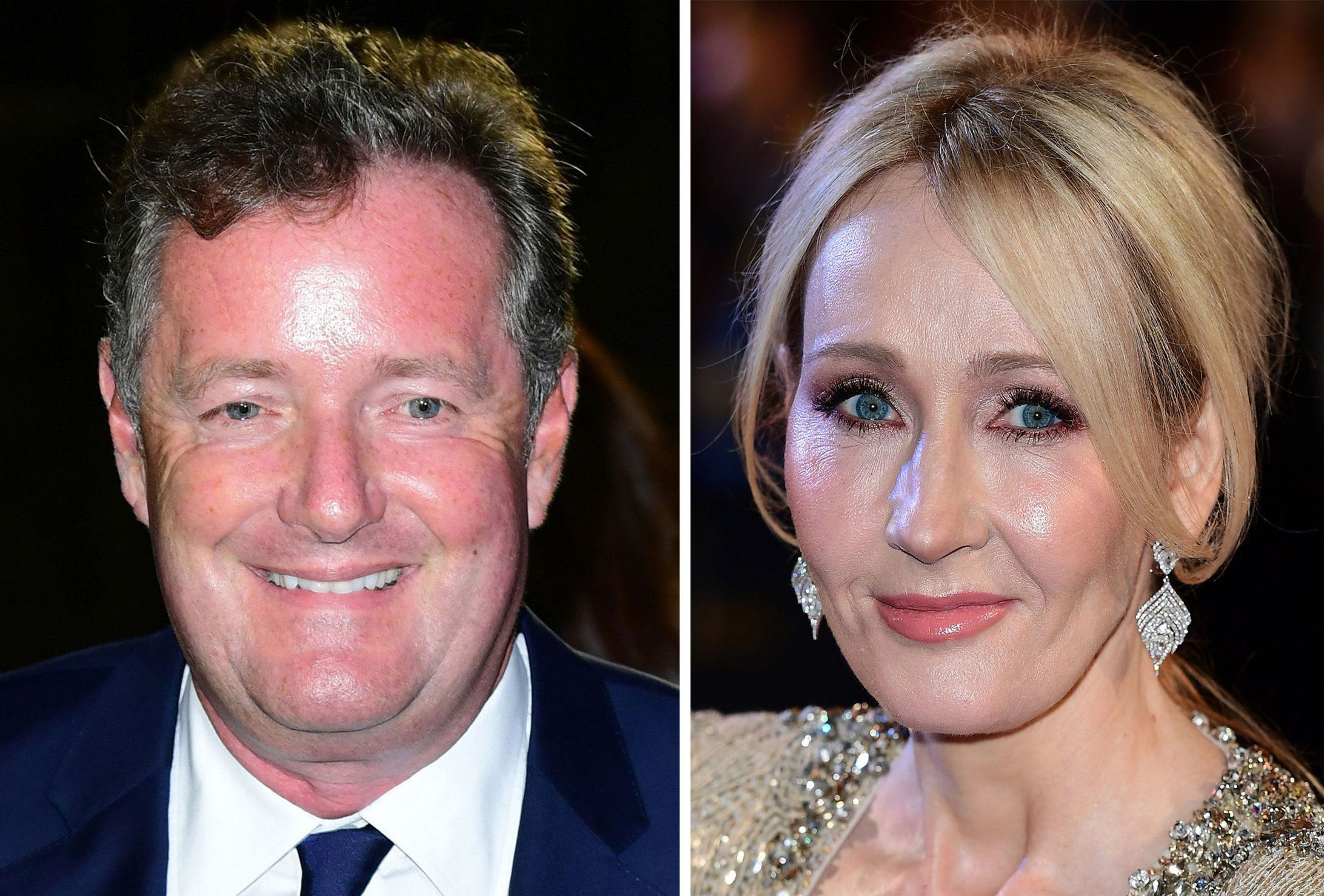 Piers Morgan and J.K.