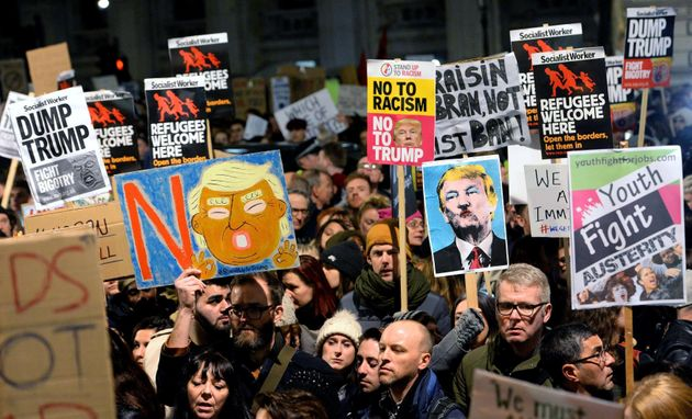 Thousands of people have said they will be attending the Stop Trump protest in Parliament Square on