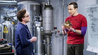 LOS ANGELES - JANUARY 16: 'The Locomotion Reverberation'-- Pictured: Leonard Hofstadter (Johnny Galecki) and Sheldon Cooper (Jim Parsons). Leonard and Wolowitz try to distract Sheldon when he slows the progress of their guidance system.  Also, Penny and Amy take Bernadette out for the night, leaving Raj and Stuart to care for baby Halley, on THE BIG BANG THEORY, Thursday, Feb. 9 (8:00-8:31 PM, ET/PT), on the CBS Television Network.   Dean Norris returns as Colonel Williams. (Photo by Sonja Flemming/CBS via Getty Images)