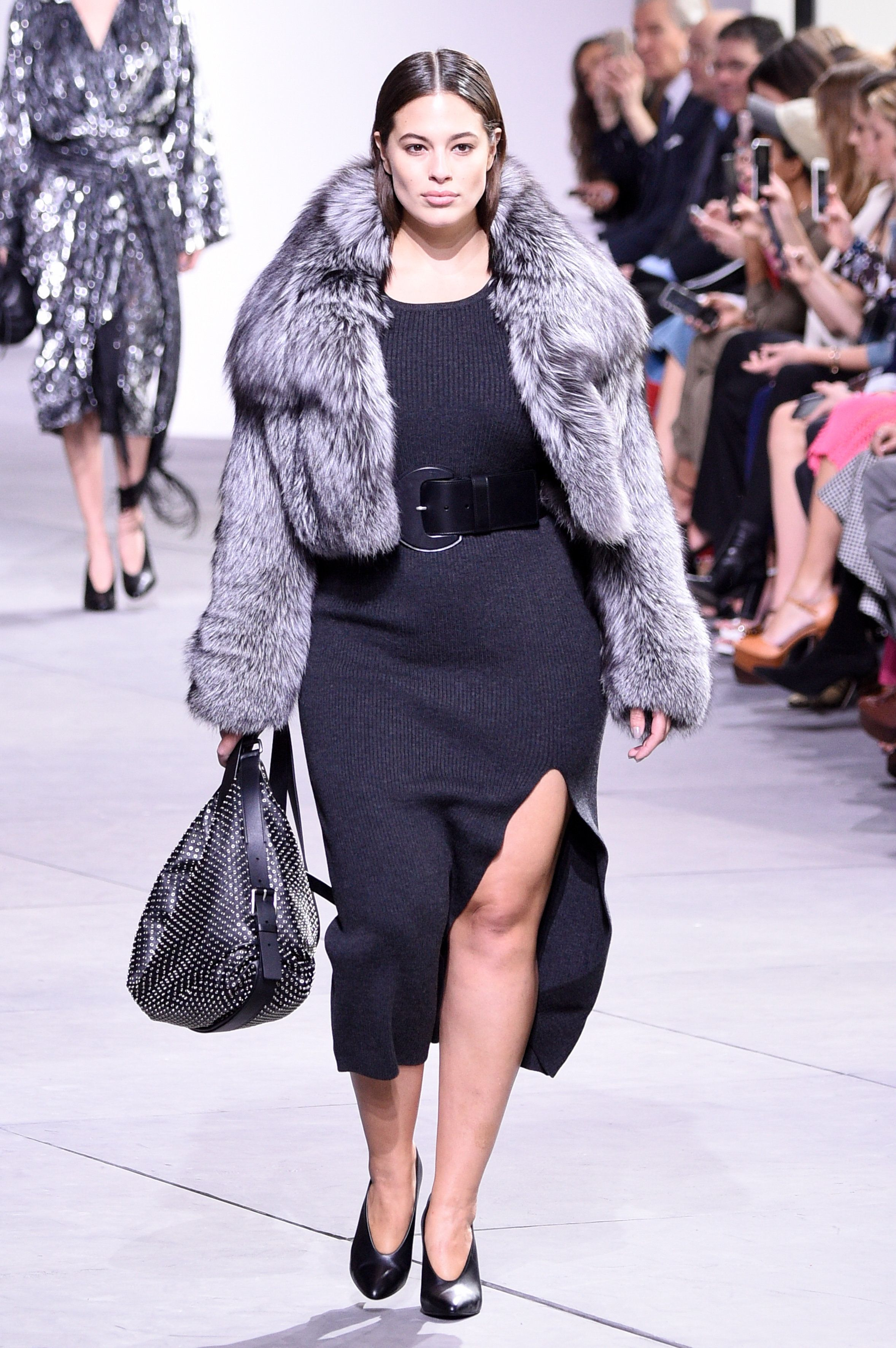Ashley Graham makes a statement at Michael Kors.