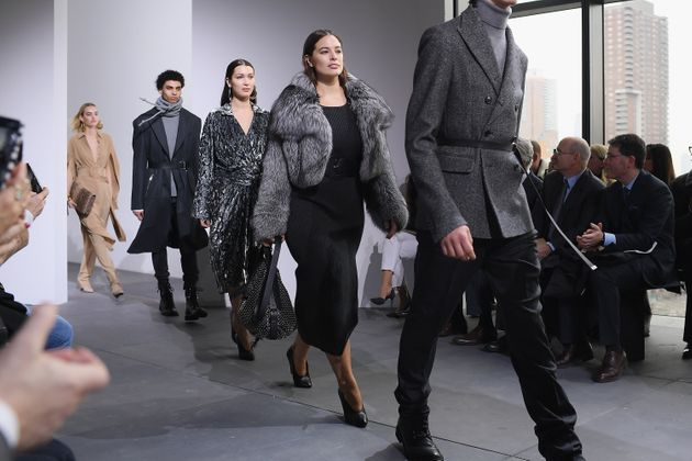 Graham walked the show alongside Bella Hadid (left) and Kendall Jenner (not