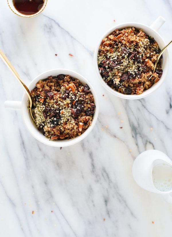 "<strong>Get the <a href=""http://cookieandkate.com/2017/cinnamon-breakfast-quinoa-recipe/"" target=""_blank"">Cinnamon Toast Brea"