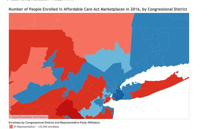 Estimated 2016 ACA Marketplace Enrollment by Congressional District, accessed 2/2017