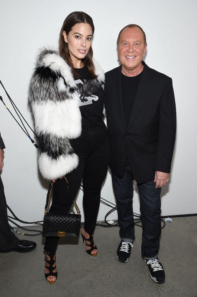 Ashley Graham and designer Michael