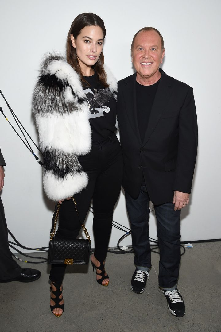 Ashley Graham and designer Michael Kors.