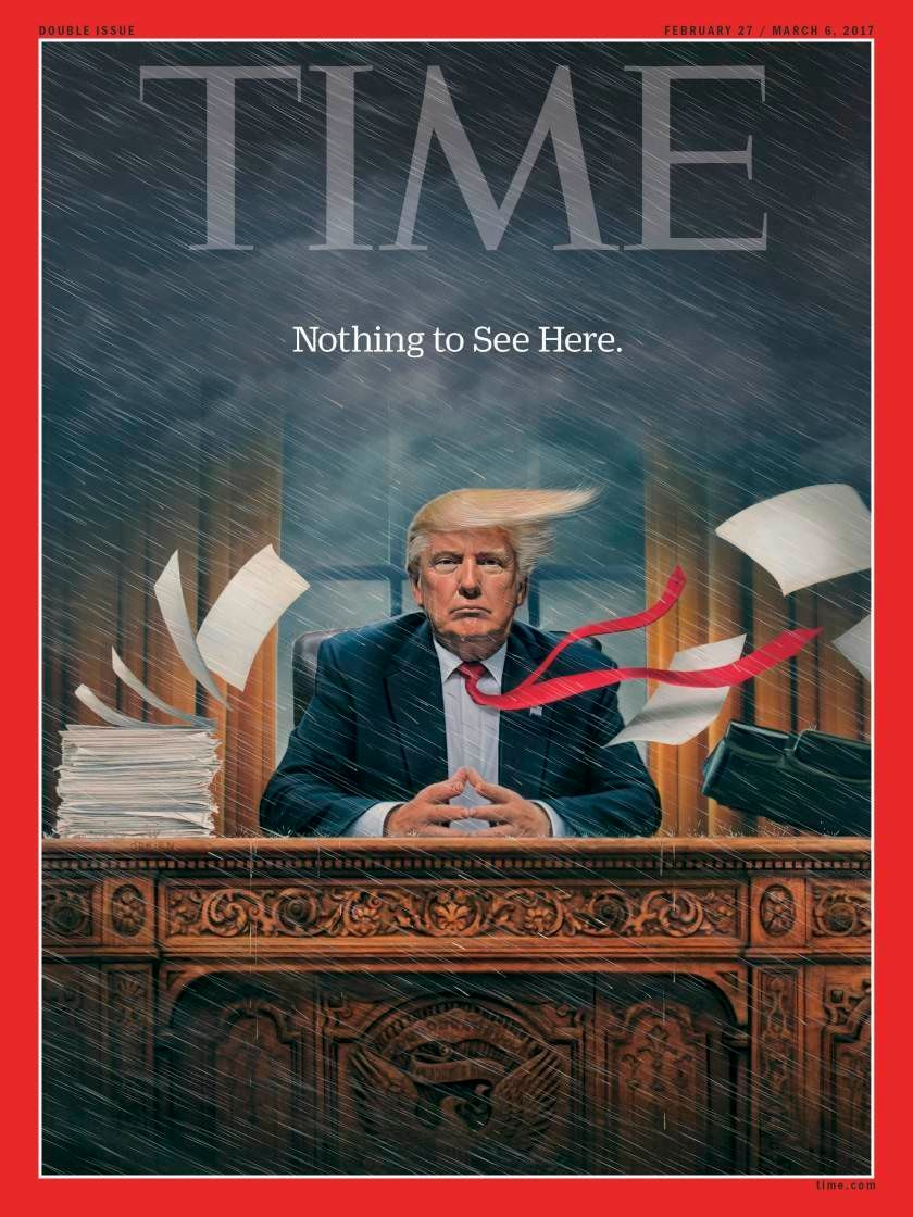 Time Magazine Cover Shows Storm Brewing For Donald