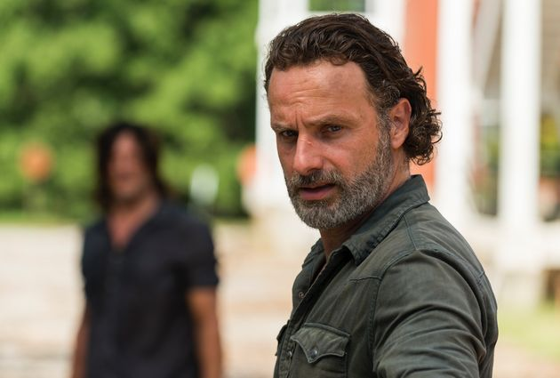 'The Walking Dead' Fans Think They Saw a Plane Behind Rick's Head