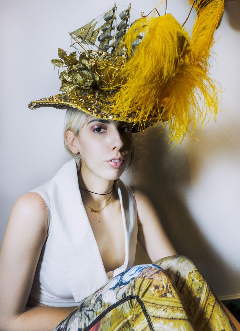 Hat by Zoltan Toth Designs. Shirt by Doruntina Azemi
