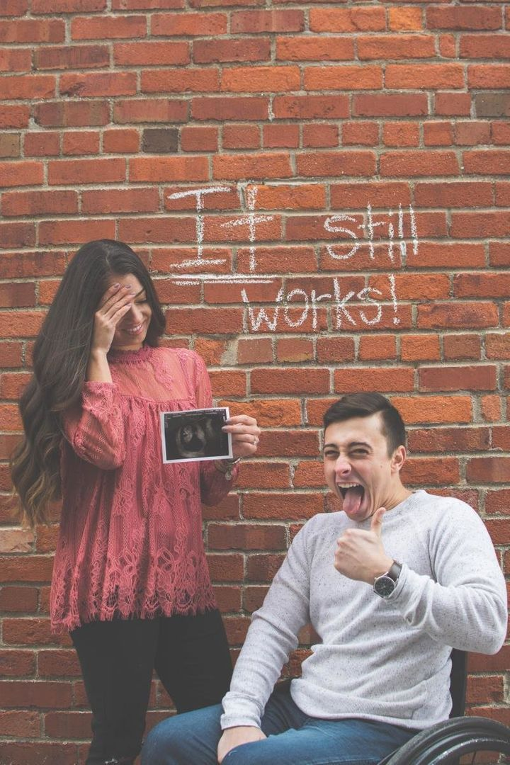 """""""We knew we wanted to do something funny,"""" Diesen said of their pregnancy announcement."""