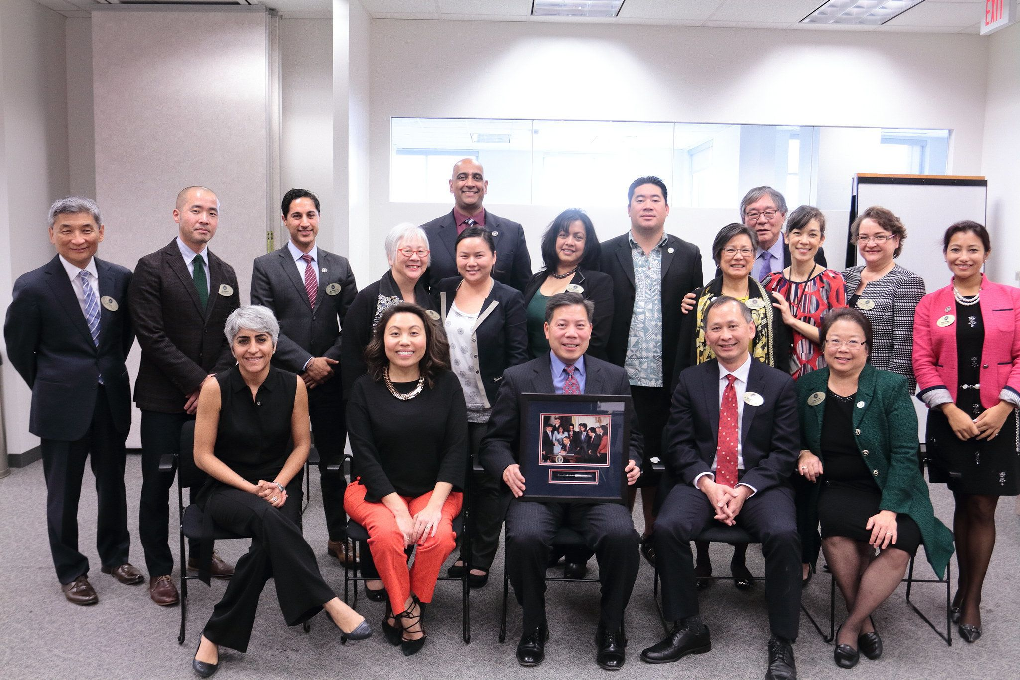 This image taken on Dec 6 2016 shows members of the White House Initiative on Asian Americans and Pacific Islanders Sixteen members have recently resigned from the group