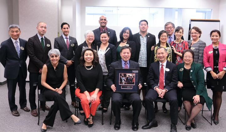 Members of the Commission on Asian Americans and Pacific Islanders gathered for a photo on Dec. 6, 2016.