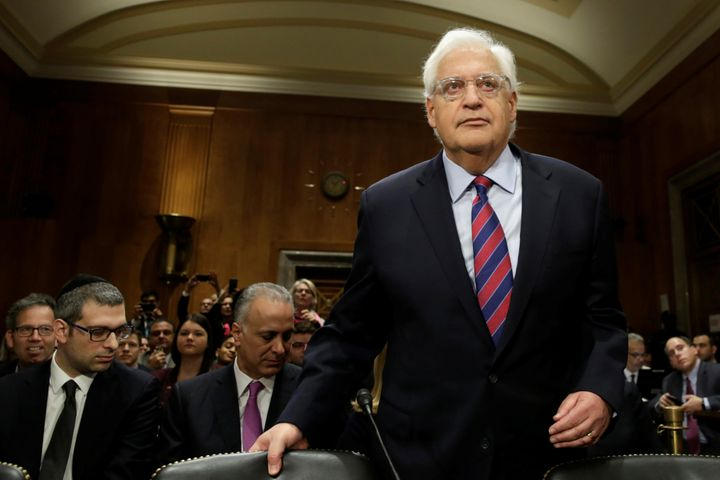 David Friedman arrives at the Senate Foreign Relations Committee hearing.