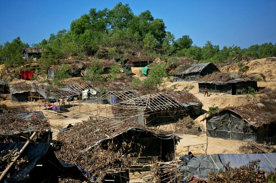 Houses sprout up every day in the Balu Kali camp in Cox's Bazar for newly arrived Rohingya refugees.