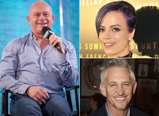 Ross Kemp, Lily Allen and Gary