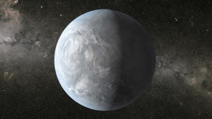 An artist's depiction of the exoplanet, the existence of which may have heartened Churchill.