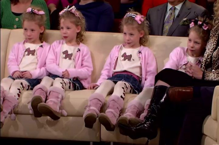 "The Mathias quads were 8 years old when the appeared on ""The Oprah Winfrey Show."""