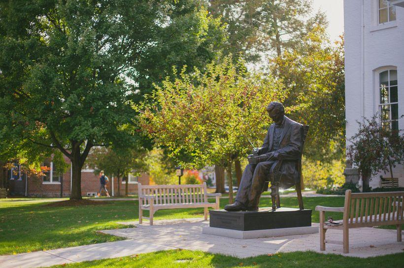 Lincoln Statue at Gettysburg College.