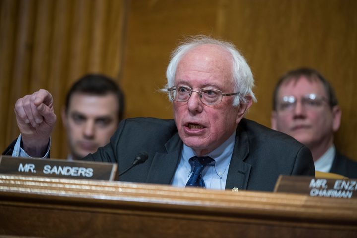 Sen. Bernie Sanders (I-Vt.) questions Rep. Mick Mulvaney (R-S.C.), nominee to be director of the Office of Management and Bud
