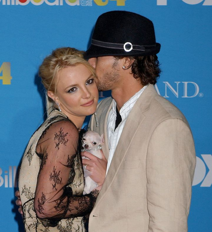 Britney Spears and Kevin Federline at the MGM Grand Garden in Las Vegas, Nevada.