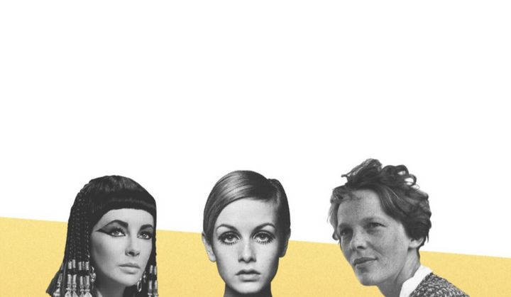 Left to right: Cleopatra, Twiggy and Amelia Earhart.