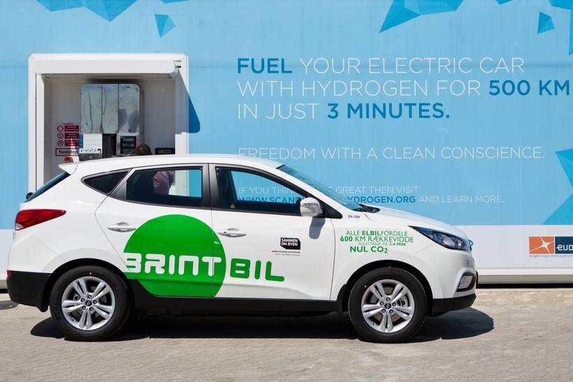 A municipal hydrogen vehicle—85% of all Copenhagen's municipal vehicles run on hydrogen or electricity.