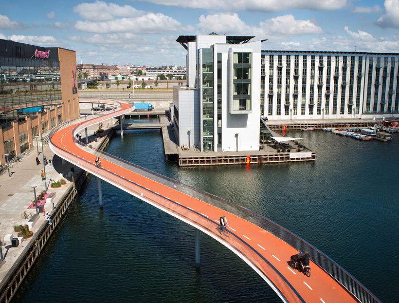 New bike-ways help make Copenhagen the world's most bicycle-friendly city.