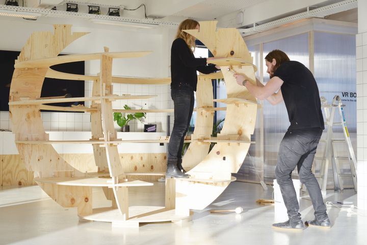 Assembly instructions are similar to other Ikea products. Here the Growroom is assembled by its architects, Sine Lindholm and
