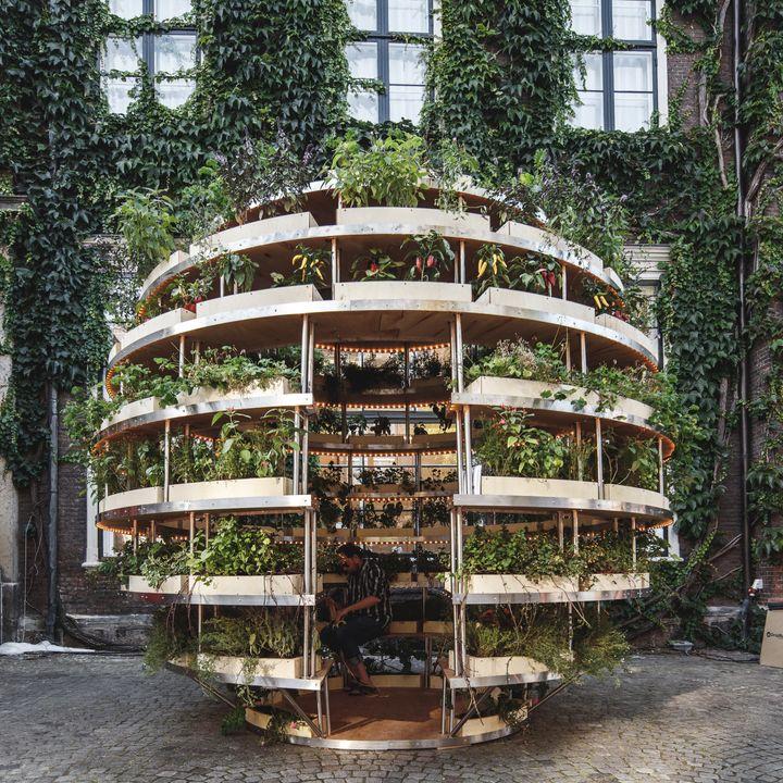 ikea lab releases free designs for a garden sphere that feeds a neighborhood huffpost - Garden Ideas Ikea