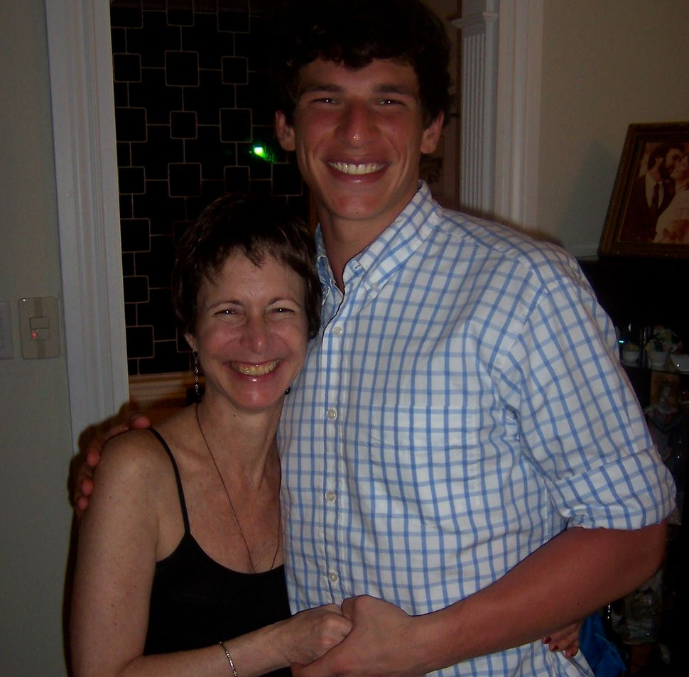 David Fajgenbaum with his mother, who died from brain cancer when Fajgenbaum was a freshman in college.