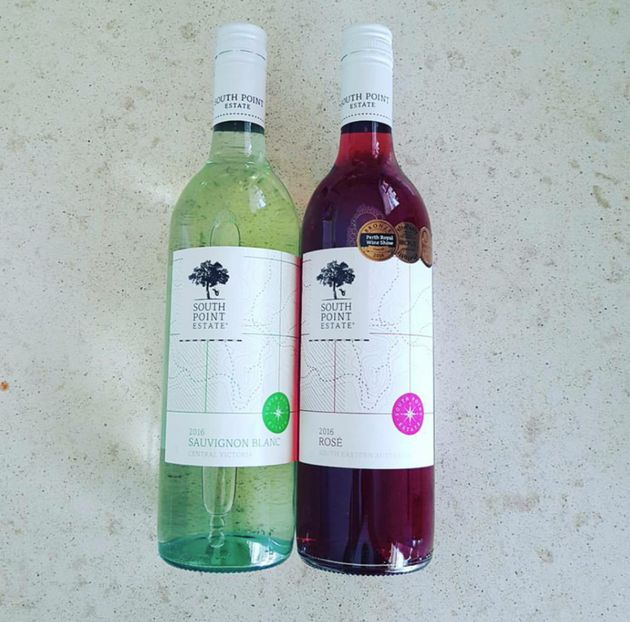 Two bottles of wine Alex Goodsir was given by the elderly