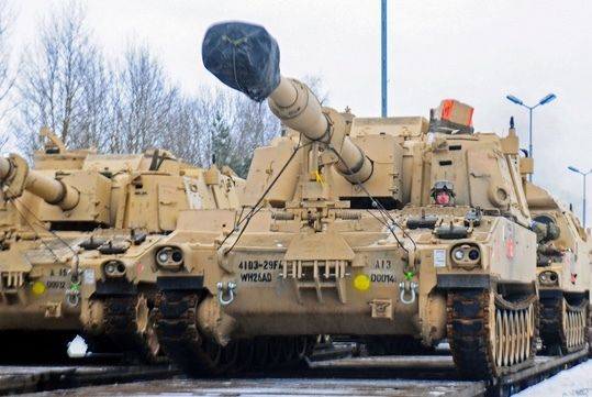 <p><em>Tanks arrive in Poland 1/8/17 for Operation Atlantic Resolve</em></p>