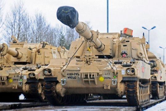 <em>Tanks arrive in Poland 1&#x2F;8&#x2F;17 for Operation Atlantic Resolve</em>