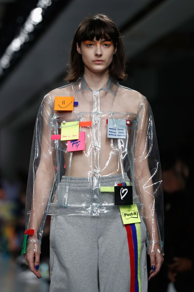 London Fashion Week 2017 Post It Notes Made Their Runway Debut At Fyodor Golan