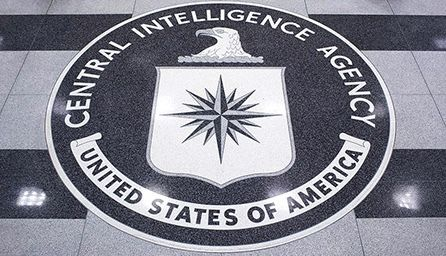 Seal in the floor of the CIA Headquarters lobby