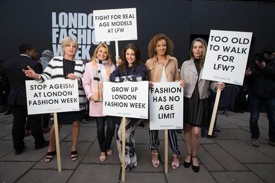 London Fashion Week 2017: Protesters Call For Older Models And A Ban On Animal