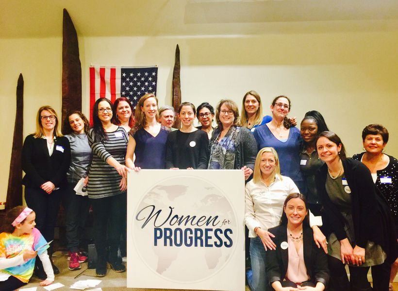 <em>Women for Progress Leadership Team gather for Wednesday's meeting</em>