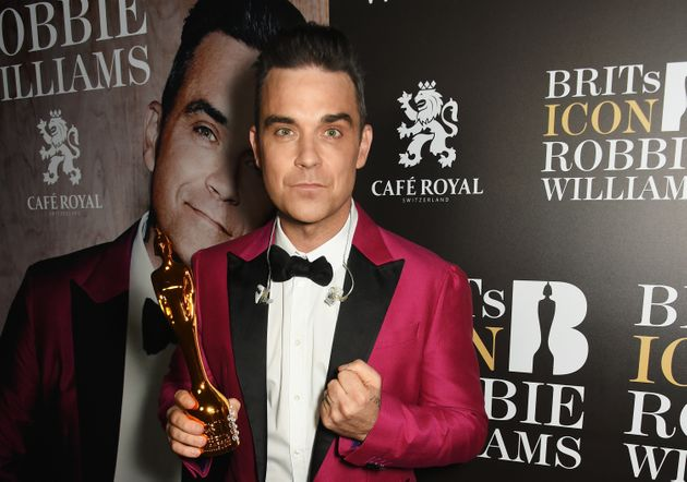 Robbie Williams is the record-breaking winner of 18 Brit Awards, but has kept only one - this Icon Award...