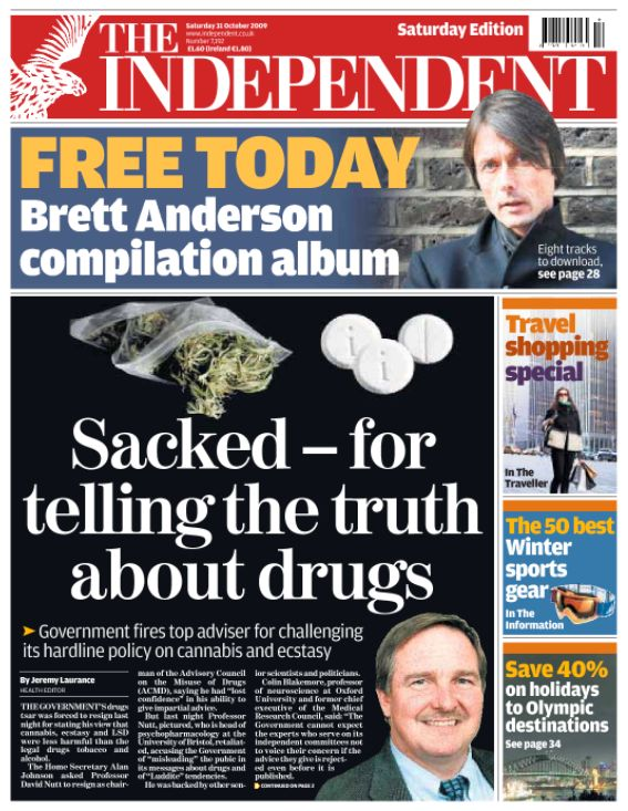 'Sacked - for telling the truth about drugs': Nutt was dismissed by then Home Secretary Alan Johnson...